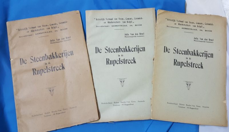 DE STEENBAKKERIJEN IN DE RUPELSTREEK
